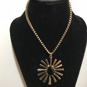 Jewelry - Fashion Statement Gold Tone Necklace